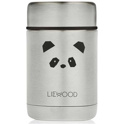Lunch box Nadja Liewood - panda (stainless steel)