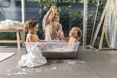Badje flexi bath XL Stokke® - transparent blue