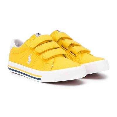 Schoen Evanston Ralph Lauren - yellow canvas - white w white pp