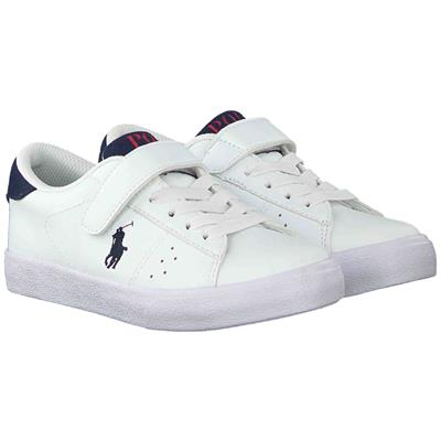 Schoen Theron ps Ralph Lauren - white tumbled - navy w navy pp