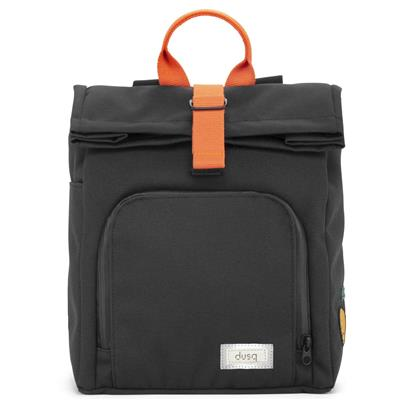 Verzorgingstas mini bag (canvas) dusq - night black - fresh orange