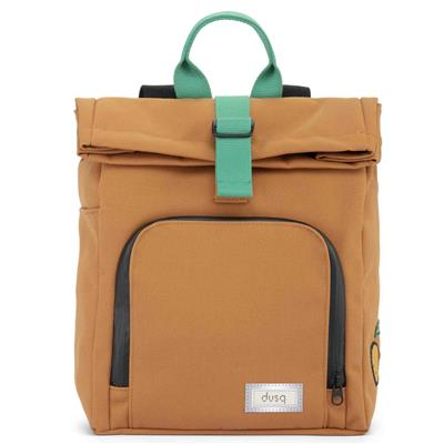 Verzorgingstas mini bag (canvas) dusq - sunset cognac - forest green