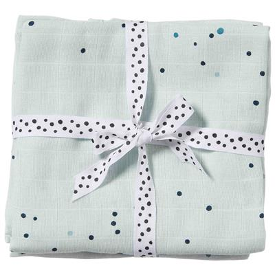 Tetradoeken (2-pack) dreamy dots Done by Deer - blue
