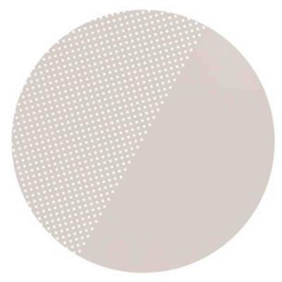 Knoeimat clean wean mat (spotted) Toddlekind - clay