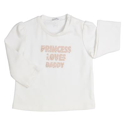 T-shirt princess Gymp - off-white/vieux-rose
