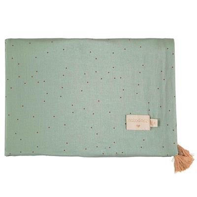 Dekentje treasure Nobodinoz - toffee sweet dots - eden green