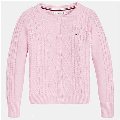 Gilet cable Tommy Hilfiger - romantic pink
