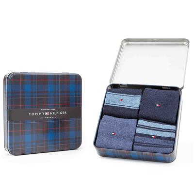 Kousen giftbox 4-pack Tommy Hilfiger - jeans