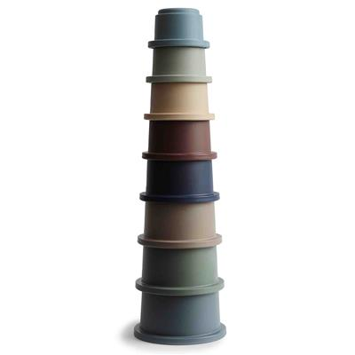 Stapeltoren stacking cups Mushie - forrest