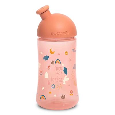 Drinkfles sporty forest Suavinex - roze