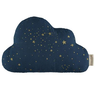 Kussen cloud Nobodinoz - gold stella - night blue