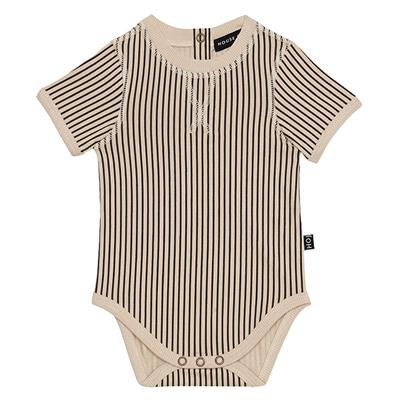 Body crewneck House of Jamie - charcoal sheer stripes