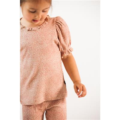T-shirt puff House of Jamie - rose dawn little leopard