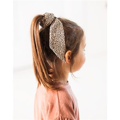 Scrunchie ribbon House of Jamie - charcoal little leopard